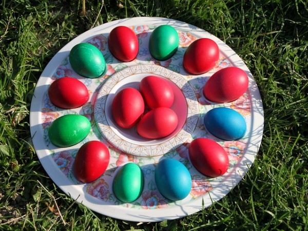 Colored eggs,Public Domain Photos/Flickr